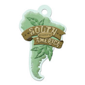 South America Die-cut Tag By We R Memory Keepers