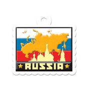 Russia Die-cut Tag By We R Memory Keepers