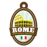 Rome Die-cut Tag By We R Memory Keepers