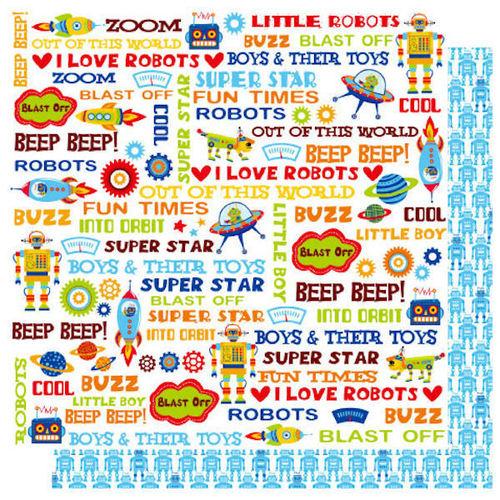 Boys & Their Toys  - Blast Off  Glitter Paper