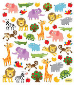 Playful Animals Stickers