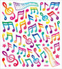 Colorful Music Notes Stickers