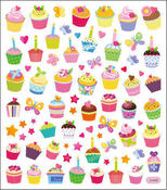Sweet Time Multi Colored Stickers