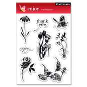Enjoy Clear Stamps - Penny Black