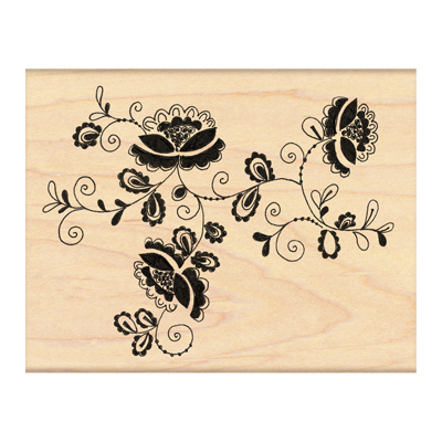 Lace-Edged Wood Stamp - Penny Black