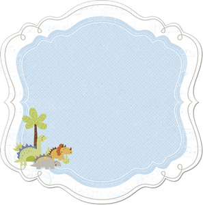 BabySaurus Decorative Edge Cardstock By Little Yellow Bicycle
