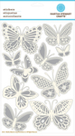 Embossed Butterflies With Gems Stickers By Martha Stewart Craft