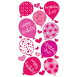 Birthday Girl Sticko Stickers