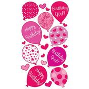 Birthday Girl Sticko Stickers
