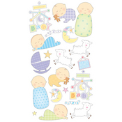 Sleepy Time Baby Stickers