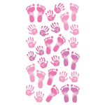 Pastel Baby Girl Prints Stickers