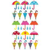 Patterned Umbrella Repeats Stickers