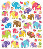 Colorful Elephants Stickers