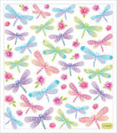 Colorful Dragonflies Stickers