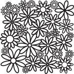 Daisy Cluster 12 x 12 Template  - Crafters Workshop