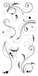 Dot Flourish Clear Stamps By Inkadinkado