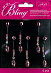 Pink Oval Swing Bling Stickers