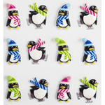 Holiday Penguins Cabochons Stickers