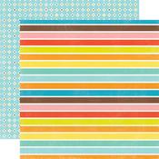 Big Stripes Paper - Splash By Echo Park