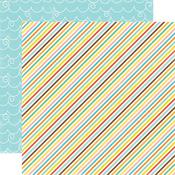 Diagonal Stripes Paper - Splash By Echo Park