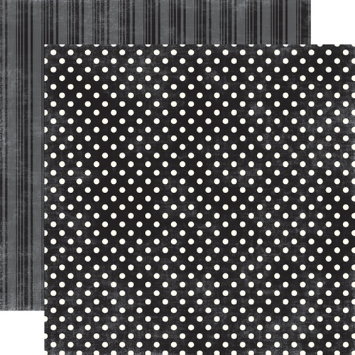 Tuxedo Small Dot Paper - Dots And Stripes Metropolitan By Echo Park