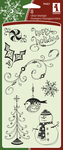 Holiday Pattern Clear Stamps By Inkadinkado