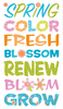 Colorful Spring Sticker Sayings By Sticko