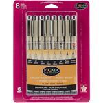 Pigma Micron Assorted Sizes, 8 Black Pen Set - Sakura