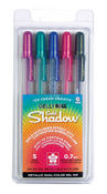 Gold Shadow Gelly Roll 5-Color Pen Set - Sakura