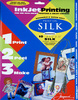 Ink Jet Silk Fabric Sheets Silk - Jacquard 10 Sheet Pack - 8 1/2 x 11   Unlike many inkjet fabrics, Jacquard Inkjet Silk retains the natural hand of the fabric. Once printed, remove the paper backing and you're left with a lovely, naturally soft, printed piece of fabric.    100% silk habotai, 10mm  Print with any inkjet printer or copier  Retains natural hand of the fabric  Removable paper backing  Permanent, lightfast, hand washable  Perfect for:    <li>banners  <li>cushions  <li>doll clothes  <li>clothing labels  <li>t-shirts  <li>quilts  <li>flags  <li>bags  <li>place mats & ribbons  <li>and much more...
