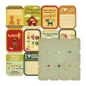 Furry Friends Flash Cards Paper - Friends Furever By We R Memory Keepers