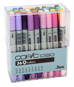 Copic Marker Ciao Set Of 36 - Set A
