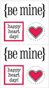 Be Mine Quick Cards Stickers