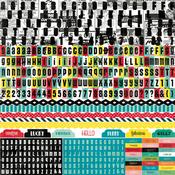 Happy Days Alpha Stickers By Echo Park