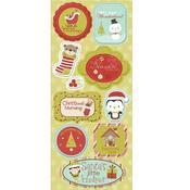 Santa's Little Helper Chipboard Stickers By Imaginisce