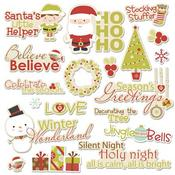 Season's Greetings Word Die-cuts - Santa's Little Helper By Imaginisce
