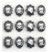 Skull Cameos Stickers By Jolee's Boutique