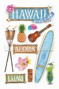 Hawaii 3D Stickers By Paper House Productions