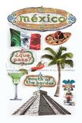 Mexico 3D Stickers By Paper House Productions