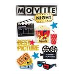 Movie Night 3D Stickers By Paper House Productions