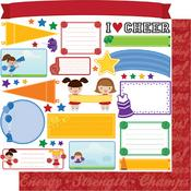 Cheer Tags  - Team Spirit  Glitter Paper