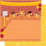 Go! Fight! Win!  - Team Spirit  Glitter Paper