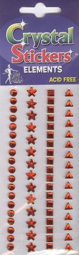 Red Multi Pack Rhinestone Stickers By Mark Richards