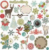 North Country Chipboard Stickers By Prima