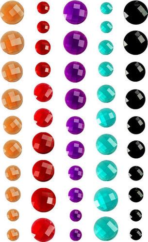 Orange, Red, Purple, Aqua & Black Crystals By Prima