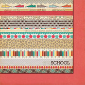 Stripes Paper - Off To School By Fancy Pants Designs