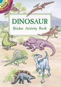 Dinosaur Sticker Activity Book By Dover