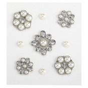 Pearl And Gem Cluster Stickers By Jolee's Boutique