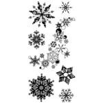Alpine Snowflake Clear Stamps By Inkadinkado