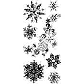 Alpine Snowflake Clear Stamps By Inkadinkado